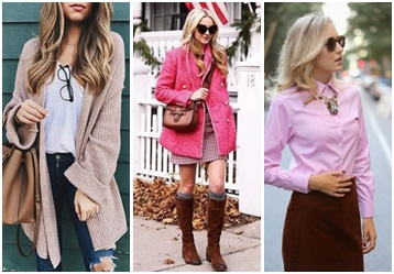 pink and brown clothing