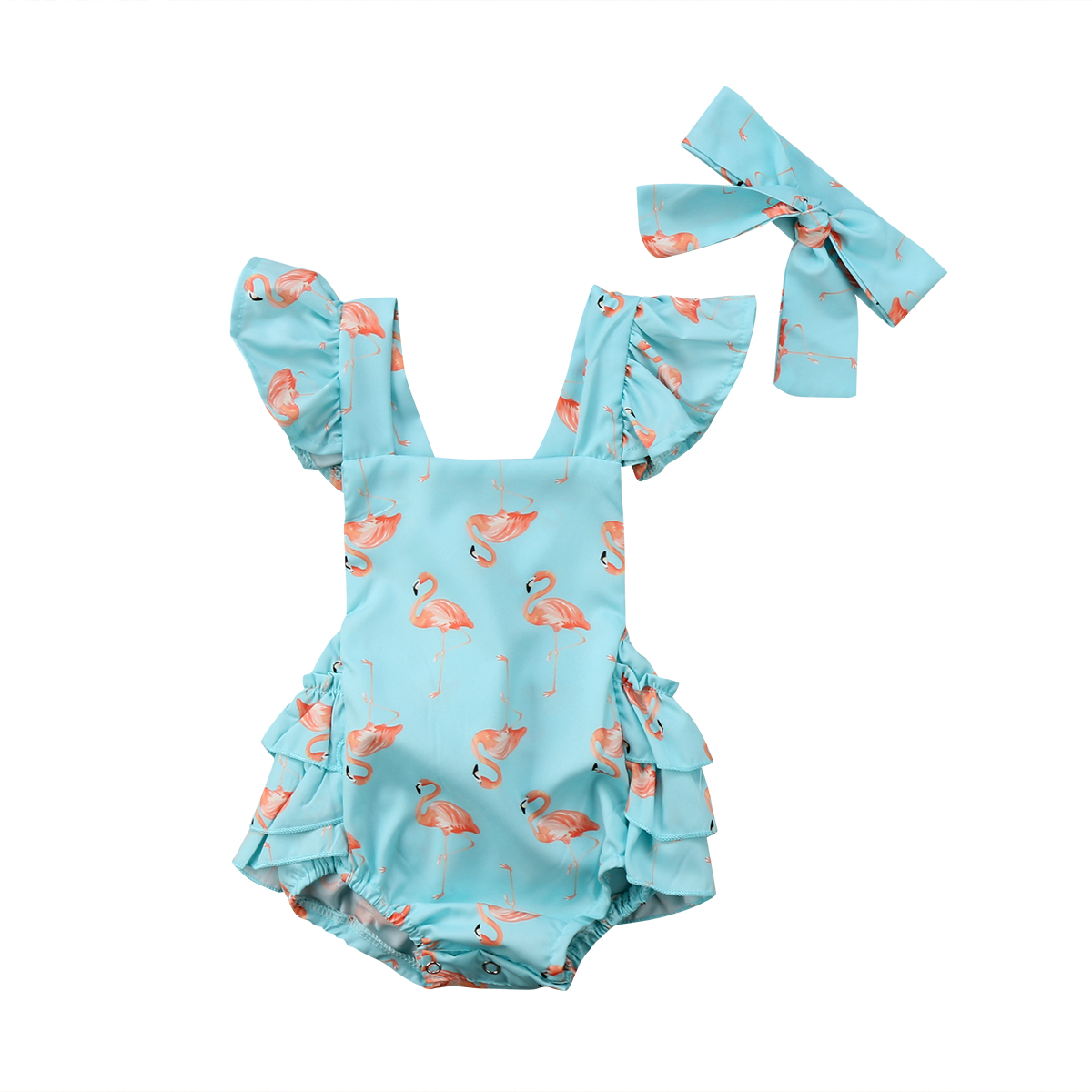 760382f44 Summer Baby Flamingo Romper Headband Set - Just Pink About It